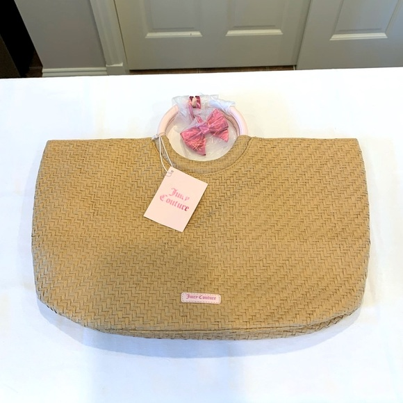 Juicy couture wicker purse/bag. NWT Large